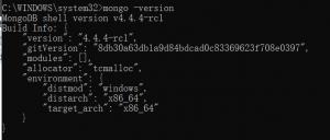 windows10系统MongoDB数据库安装及配置环境