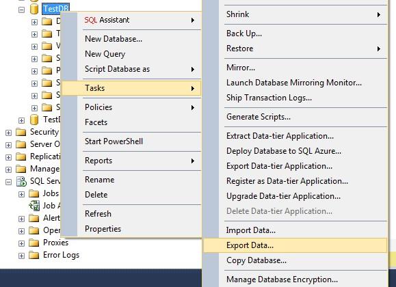 SQL server数据库迁移