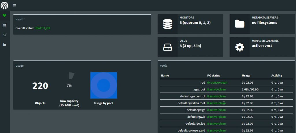 ceph分布式存储部署-云存储